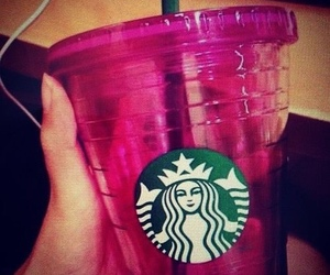 pink, straw, and tumbler image