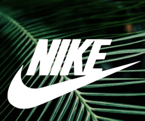 green, nike, and plant image