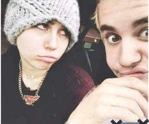 miley cyrus and justin bieber image