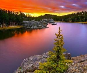 beautiful and lake image