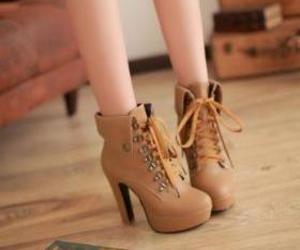 beautiful, heel, and brown image