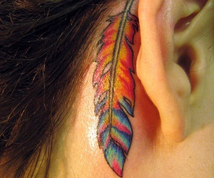 feather tattoo, awesome tattoo, and ink image