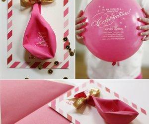 invitation, diy, and balloon image