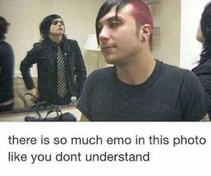 emo, frank iero, and gerard way image