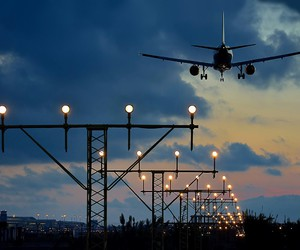 airplane and travel image
