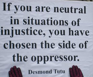 quotes, injustice, and desmond tutu image