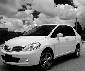 black and white, filter, and nissan image