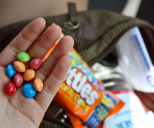 skittles and food image