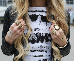 fashion, blond, and gold image