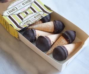 chocolate, ice cream, and ice cream cone image