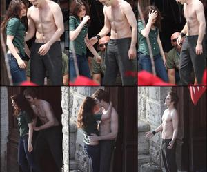 behind the scene, bella swan, and couple image