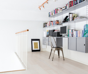 interor design, office, and shelving image