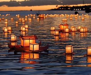 light, water, and lantern image