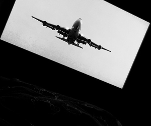 airplane, fly, and retro image