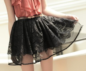 skirt, outfit, and black image