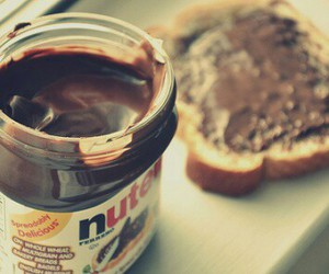 chocolate, nutella, and toast image