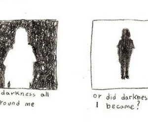 alone, black, and Darkness image