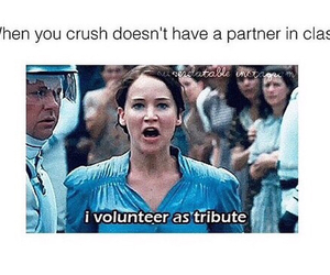 crush, hunger games, and funny image