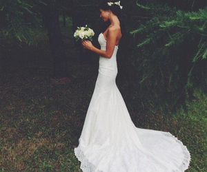 bride, dress, and girl image