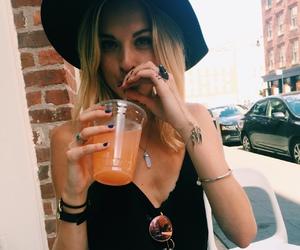 blonde, blonde hair, and fashion image