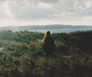 girl, nature, and alone image