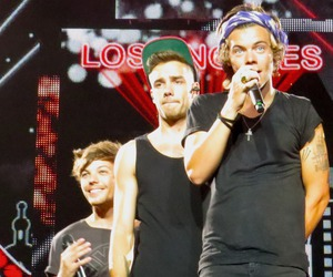 liam payne, Harry Styles, and louis tomlinson image