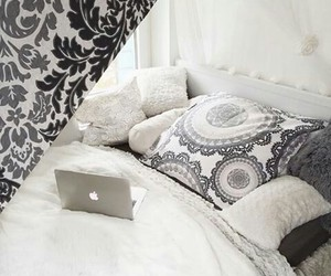 bedroom, boho, and fashion image