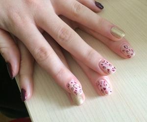 beauty, gold, and nail image
