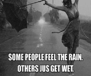 feel, rain, and women image