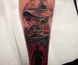 horror tattoo, freddy krueger, and tattoo image