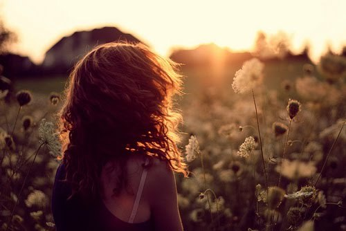 alone, girl, nature - inspiring picture on Favim.com