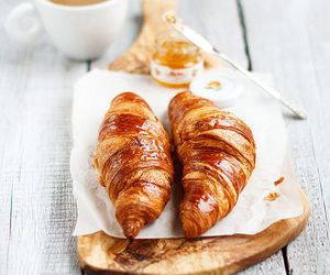 food, breakfast, and croissant image