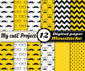 diy, glasses, and moustache image