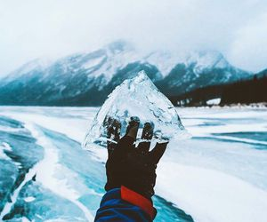 mountains, cold, and ice image