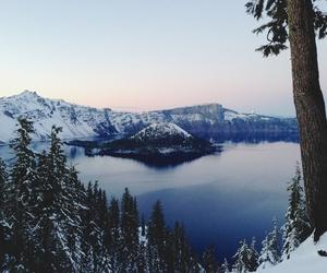 nature, winter, and lake image