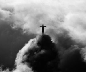 rio de janeiro, clouds, and jesus image
