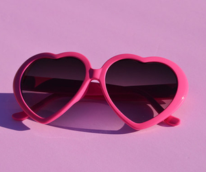 pink, glasses, and pale image