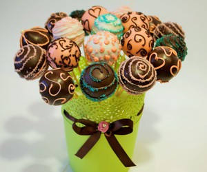 cake pops, colored, and desert image