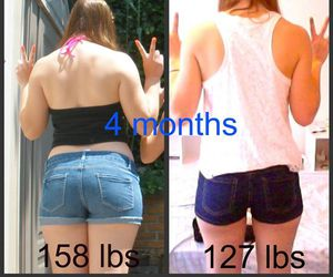 before and after, weight loss, and fitspo image