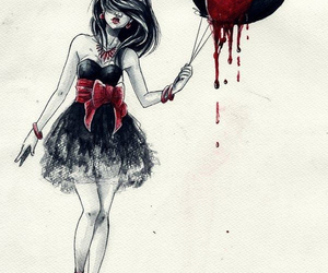 drawing, blood, and art image