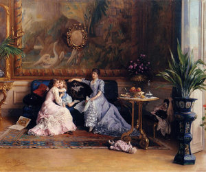 art, painting, and victorian image