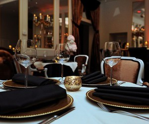 luxury, restaurant, and dinner image