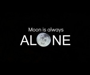 alone and moon image