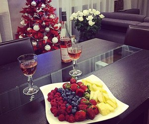 christmas, fruit, and tree image