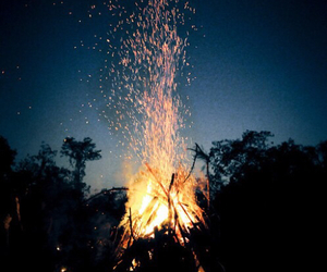 fire, night, and bonfire image