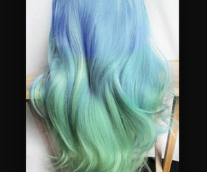 colorful hair, hair, and hair style image