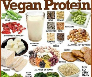 vegan, protein, and healthy image