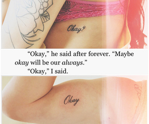love, okay, and tattoo image