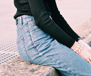 blue jeans, model, and urban outfitters image