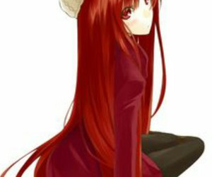 anime, sweet, and red image